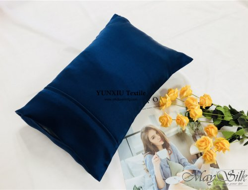 19mm Silk Pillowcase with cuff and stripe