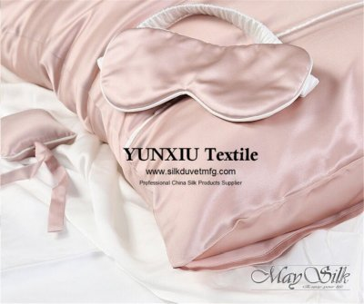Silk pillowcase and eyemask