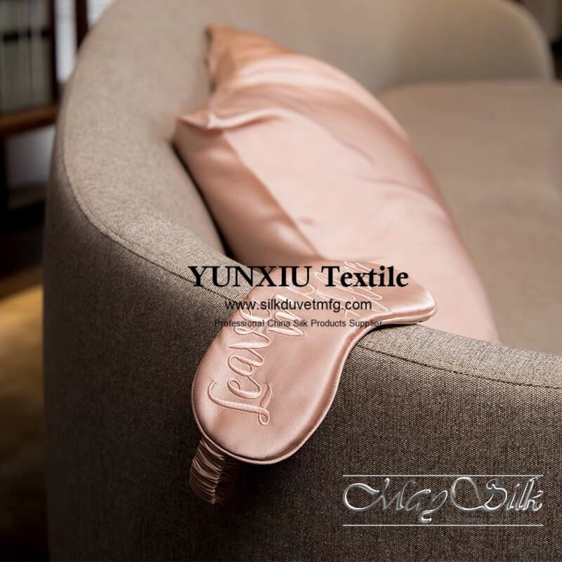 Silk pillowcase and eyemask